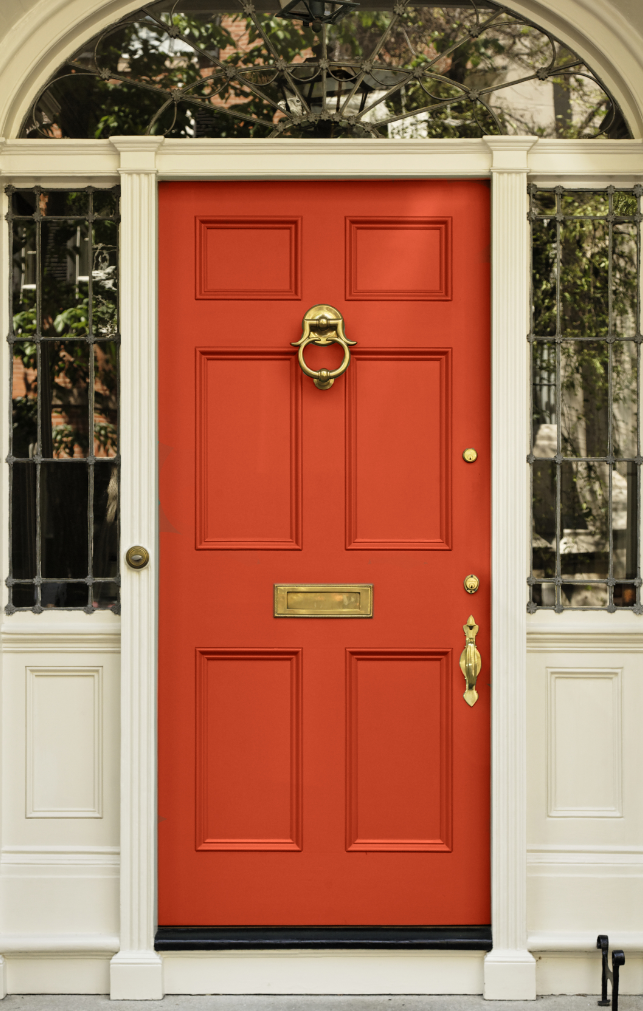 Ten Best Front Door Colours For Your House Best Front Door Colors Best Front Doors Orange Front Doors