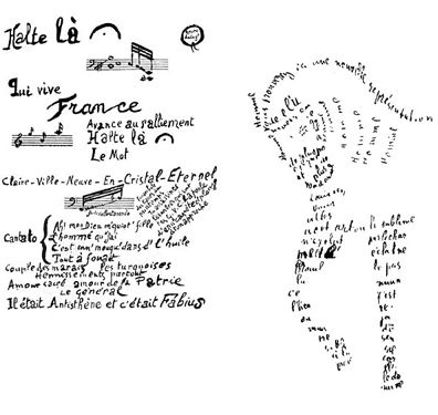 Guillaume apollinaire image text pinterest poetry month for Concrete diction