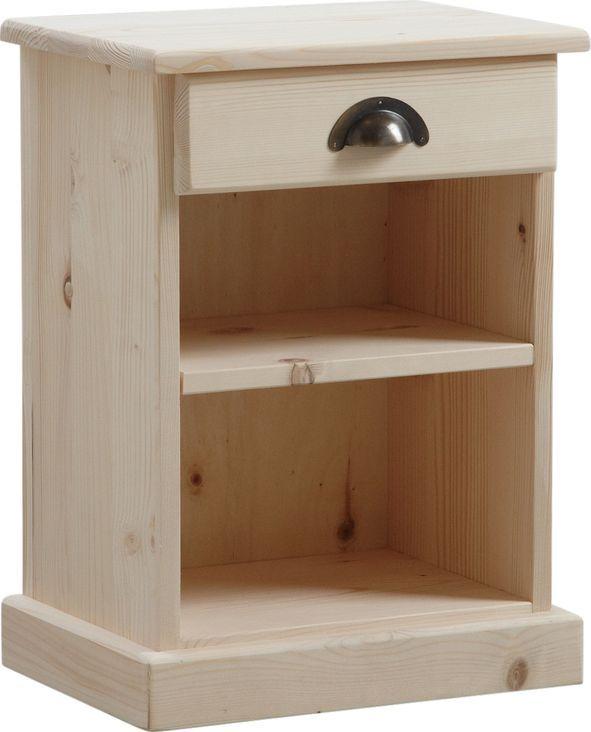 table de nuit bois brut 1 tagre 1 tiroir sur - Table De Nuit Rustique