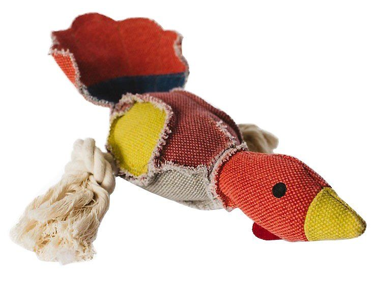 Fetch Pet Products Party Fowl Turkey Dog Toy Rugged Canvas And