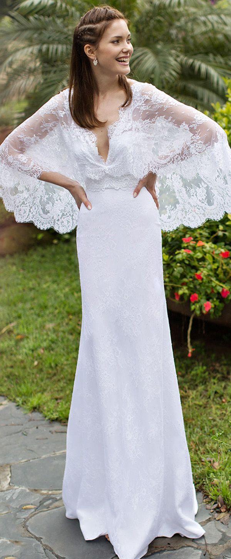 Exquisite lace vneck neckline mermaid wedding dresses el vestido