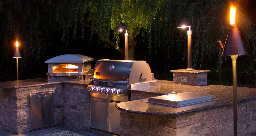 Outdoor Kitchen Bbq Lighting Lowvoltageledlandscapelighting
