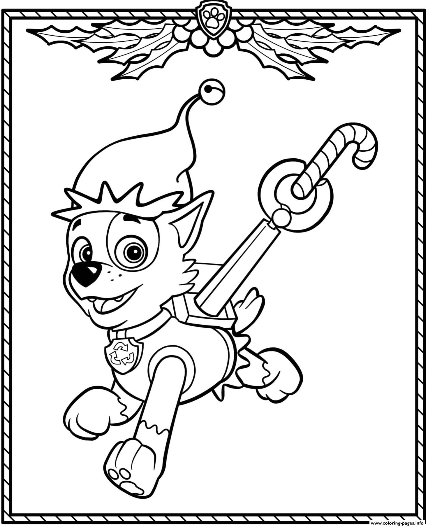 Paw Patrol Holiday Coloring Pages Trend