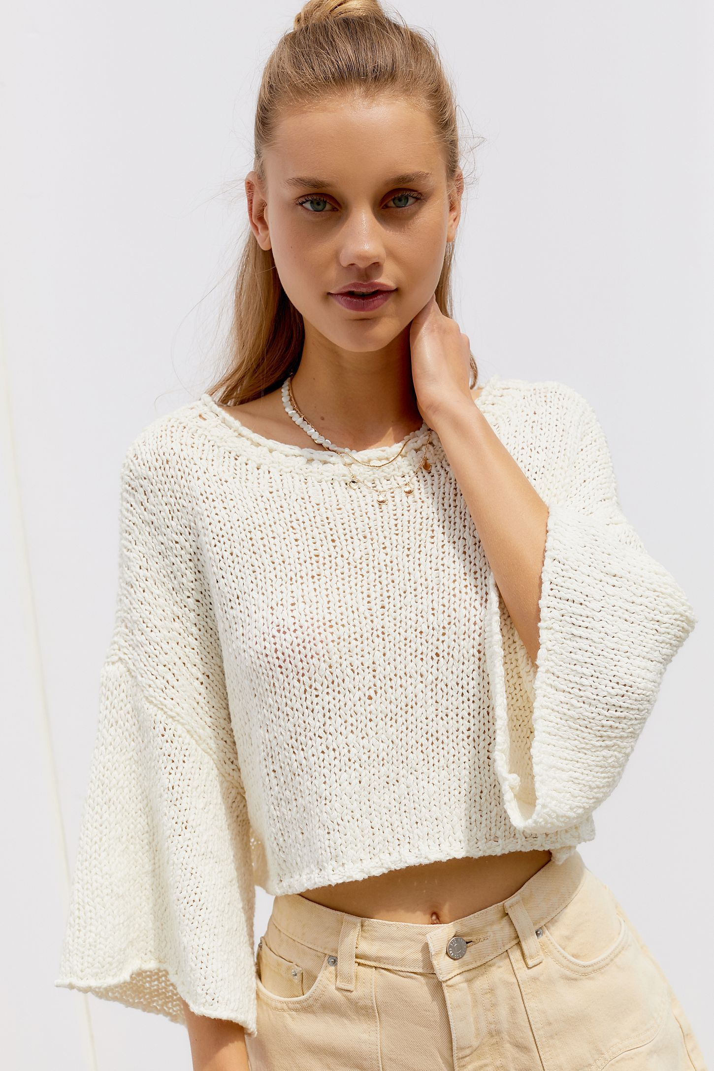 UO Cape Oversized Cropped Sweater in 2019 | Cropped sweater