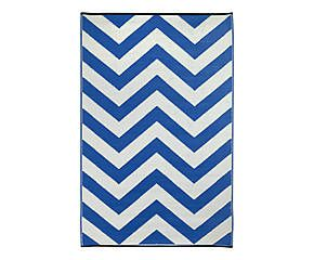 Tapis double face LAGUNA, bleu et blanc - 120*180