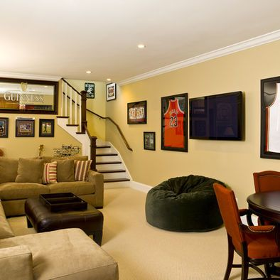 Basement Sports Living Room Design, Pictures, Remodel, Decor and ...