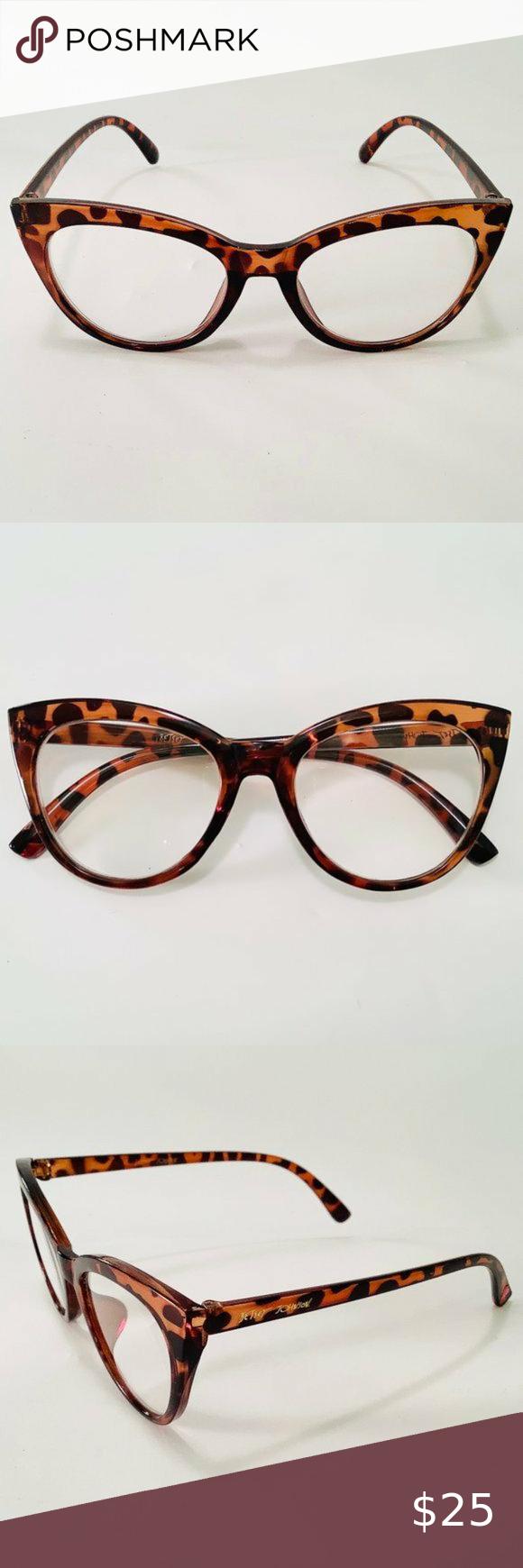 Betsey Johnson Reading Glasses Leopard Cat Eye in 2020