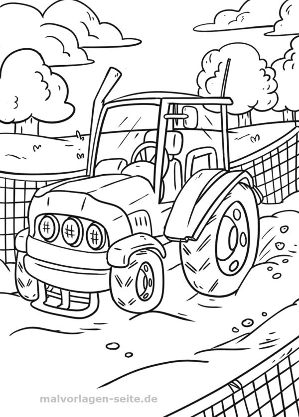 malvorlage traktor  ausmalbilder zum ausdrucken kostenlos