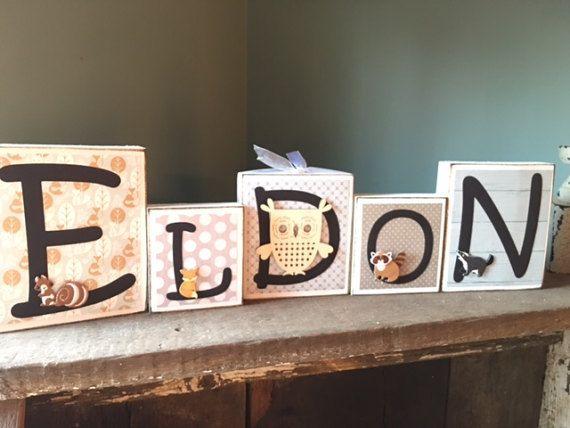 Custom Family Name Block Personalized Baby Blocks Nursery
