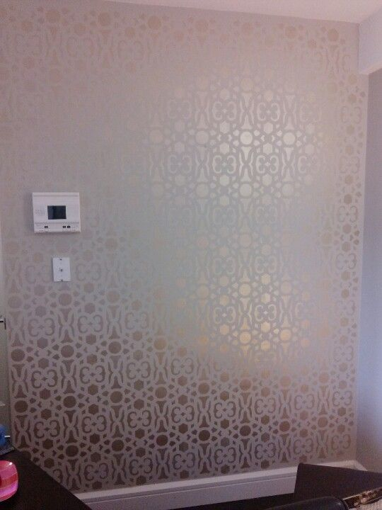 Painted Stencil Using Casablanca From Cutting Edge Stencils. Golden Pearl Martha  Stewart Paint And BM