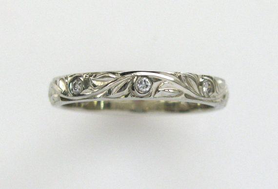DiamantHand graviert Hochzeit oder Jubiläum Band von NathanJewelers
