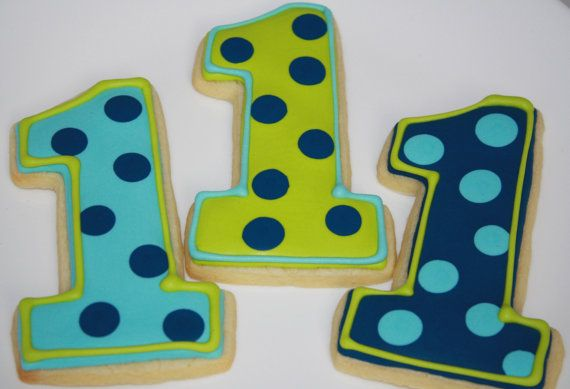 Number 1 Shaped Cookie Cutter Age 1//First Birthday