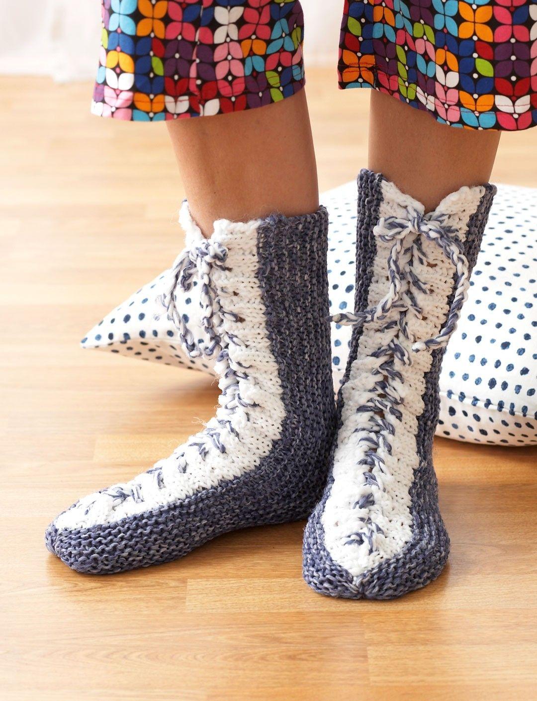 Yarnspirations.com+-+Bernat+Laced+Boots+-+Patterns++ +Yarnspirations ...