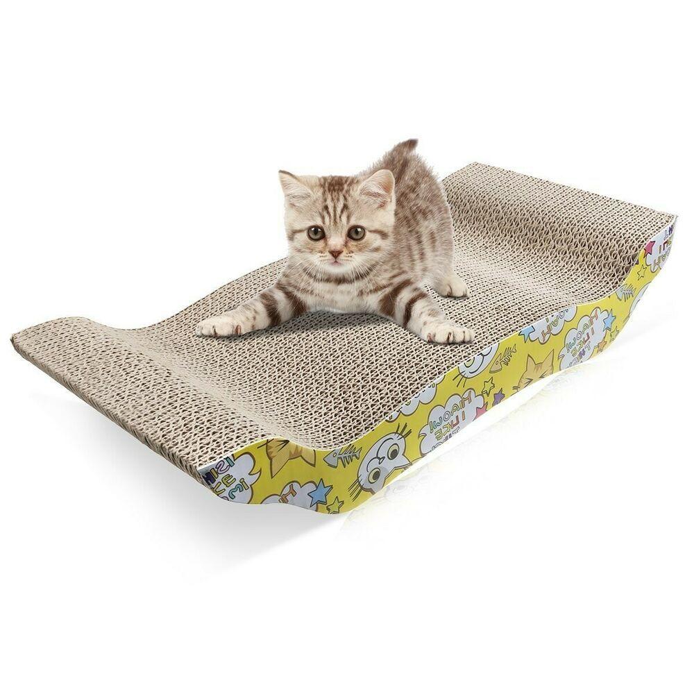 Rascador Para Gatos En Carton Corrugado Diseno De Alfombra Para