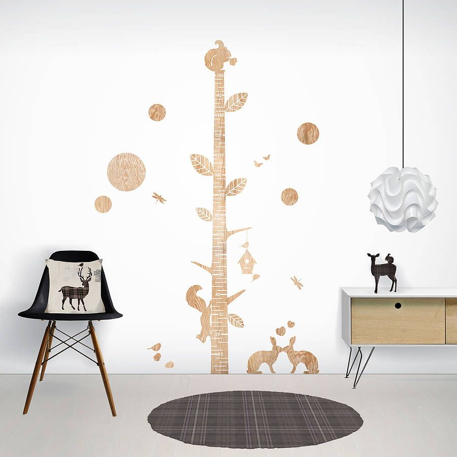 Wood print height chart wall stickers by funky the wall and wood print height chart wall stickers amipublicfo Gallery