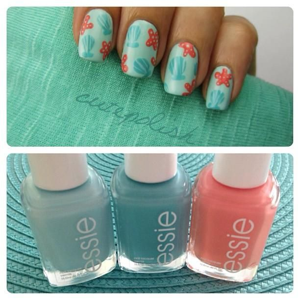 Learn how to create a beautiful summer design inspired by the beach by @cutepolish!