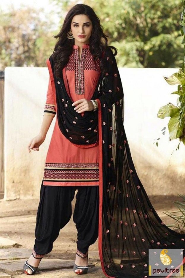 0d01eedb00 Top best gajri black color cotton ludhiana punjabi patiala suit online  Surat India with free shipping