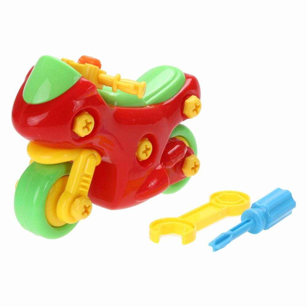 DIY Disassembly Motorcycle Model Design Educational Toys for children Kids Baby
