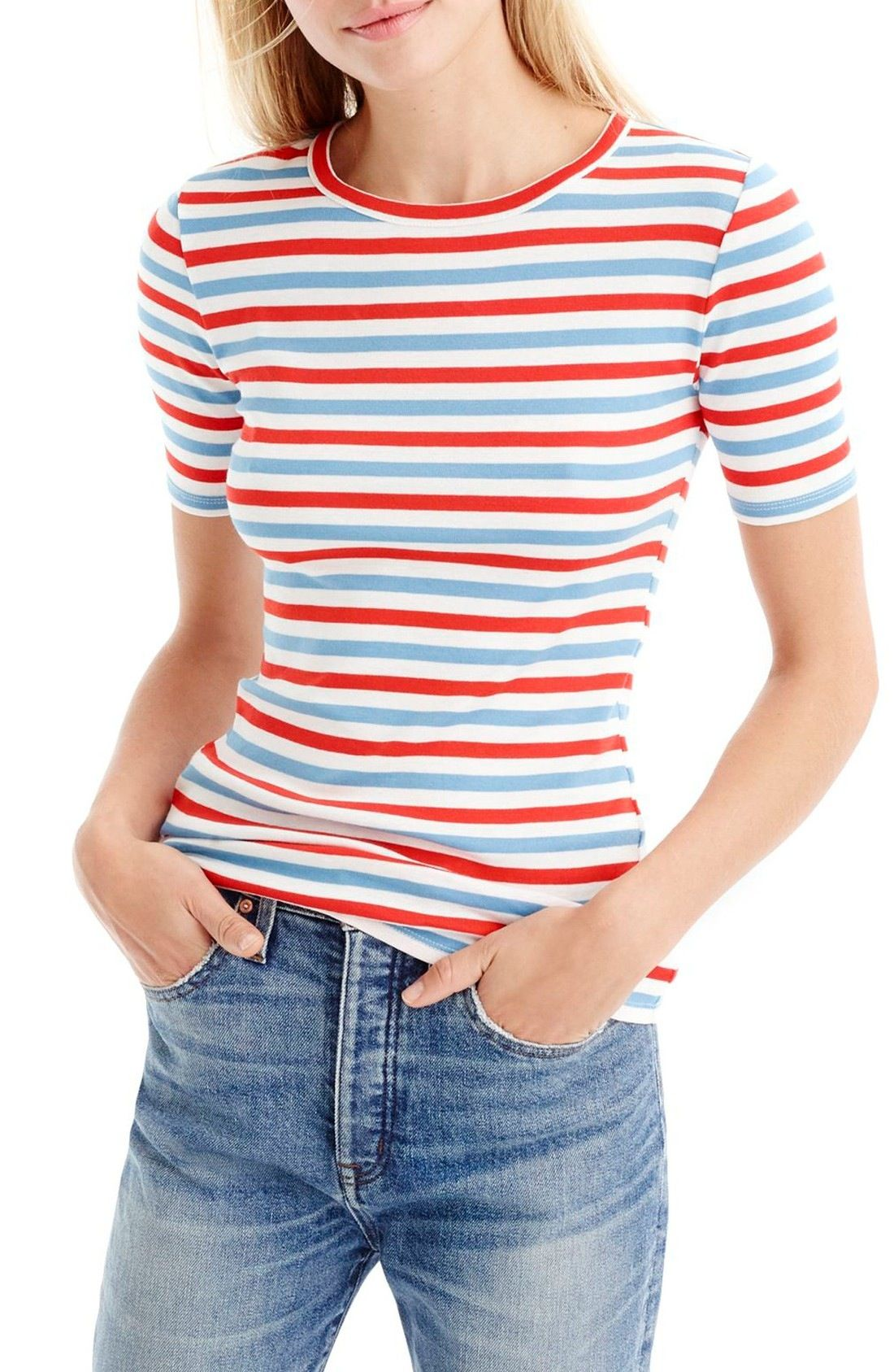 d68b246c2a09 J.Crew New Perfect Fit T-Shirt available at #Nordstrom | My Style ...
