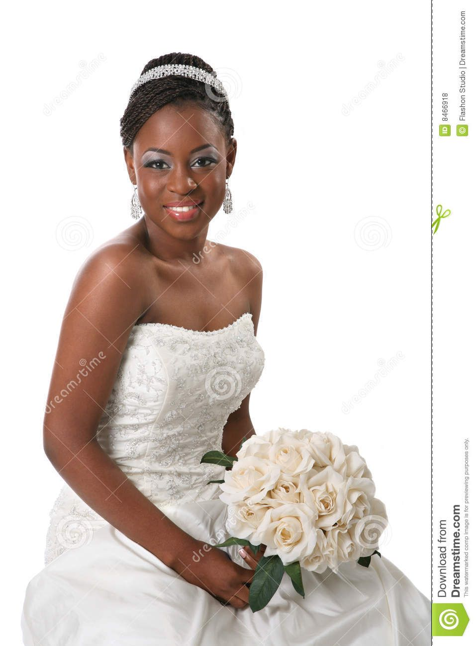 African Bride Beautiful American Portrait Royalty Free Stock Photos