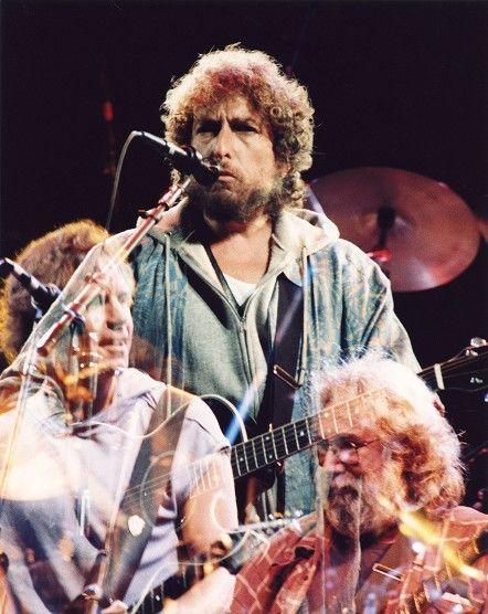 Grateful Dead And Bob Dylan Bob Weir Bob Dylan And Jerry Garcia Multiple Exposure Bob Weir Bob Dylan Dylan