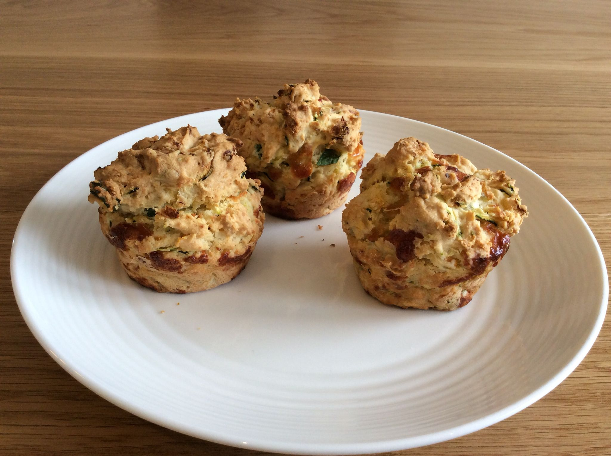 Home made savoury muffins for afternoon tea. Savory