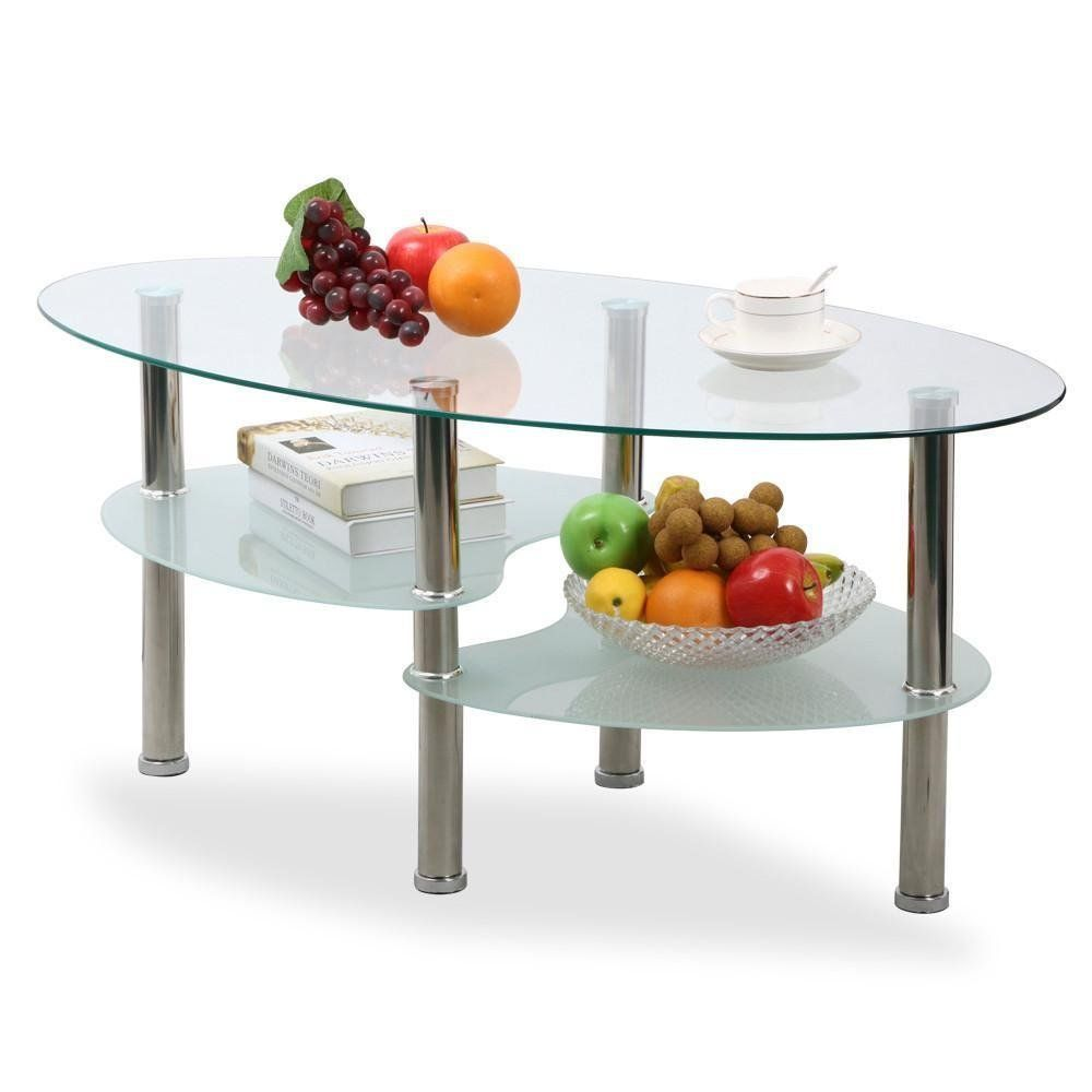Modern Oval Coffee Table   Round coffee table living room ...