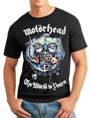 2c518cdd Motorhead - The World is Yours T-Shirt Front & Back $19.99. This