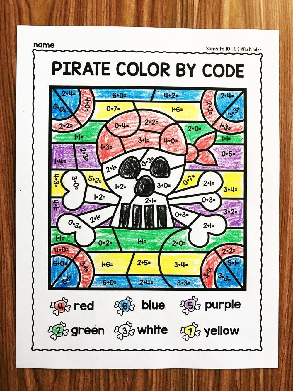 Free Pirate Math Facts Practice Simply Kinder Kindergarten Math Facts Pirate Activities Math Facts [ 1334 x 1000 Pixel ]