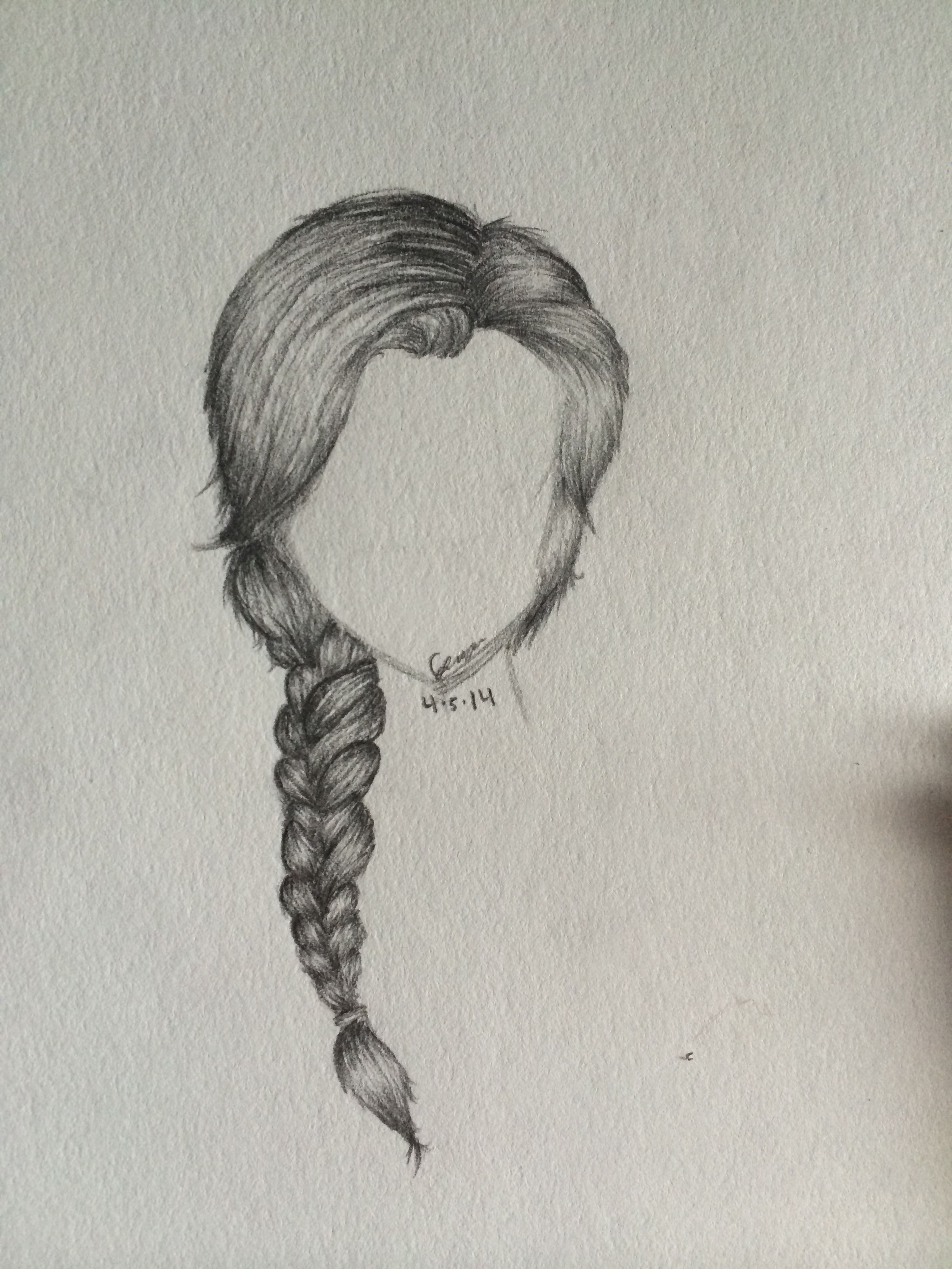Trends For Side Braid Drawing Drawing Hair Braid How To Draw Braids Front Hair Styles
