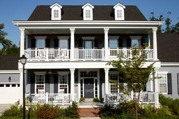 Two Story Porch Design Ideas Pictures Remodel And Decor Porch Design House With Porch Traditional Exterior