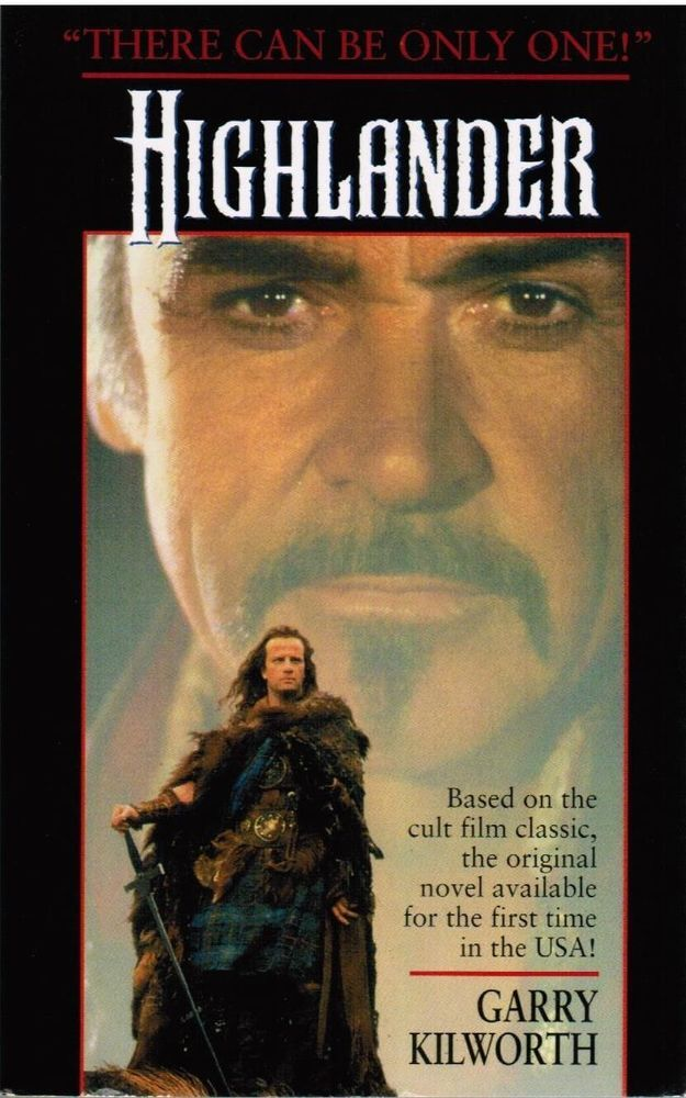 Highlander Sean Connery by Garry Kilworth and David Marshall (1998) Paperback Book | The battle rages across the centuries, from the wind-scoured Sahara to the wild Russian steppes to the rocky crags of Scotland. And only one Immortal can survive. | $19.95