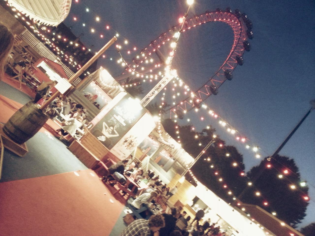 London eye from wonder ground