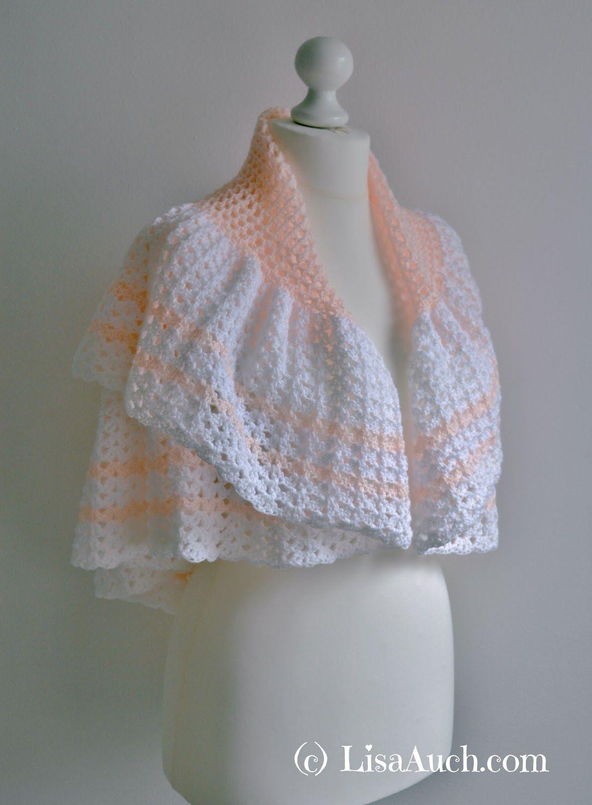 Peggy\'s Shawl - free crochet shawl pattern (or baby blanket ...