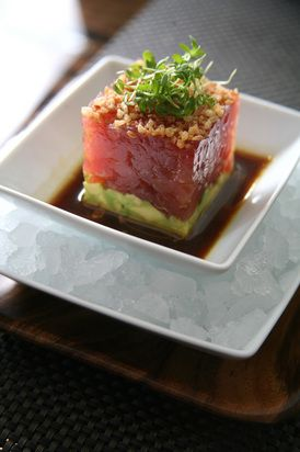 TUNA TARTARE - great dressing recipe (from BLT Steaks)