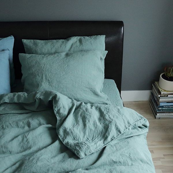 Highest Quality Stone Blue Stone Washed Rhomb Bed Linen Duvet From LinenMe  Shows Elegance, Style