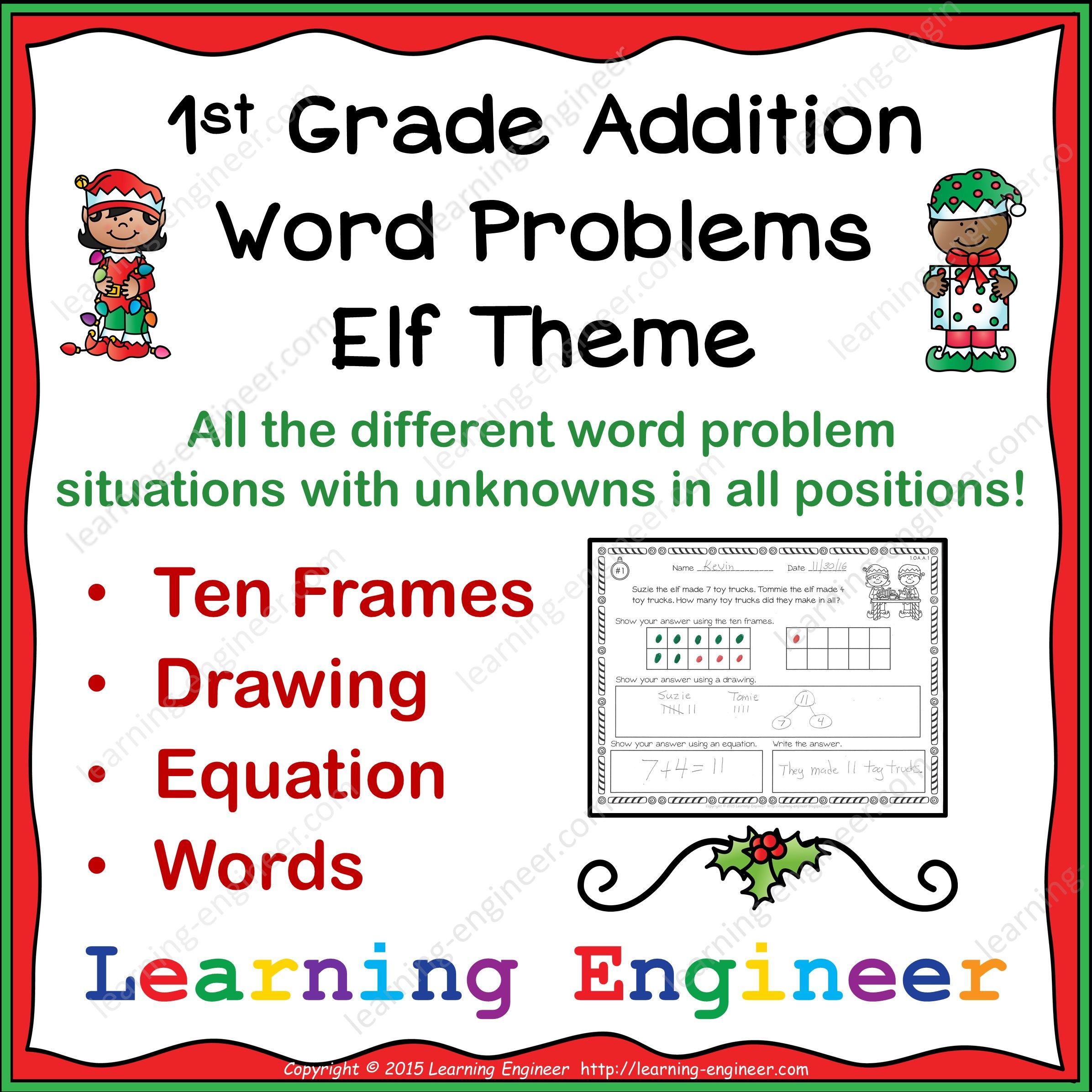 1st Grade Addition Word Problems