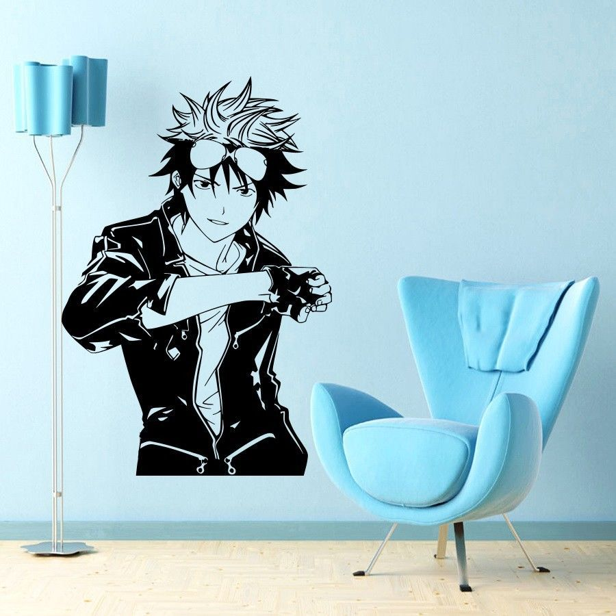 Anime manga boy guy japanese style wall vinyl sticker