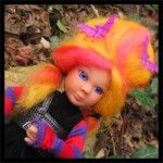 FRIGHT WIGS FOR DOLLS, Made from wool roving, quick and easy!