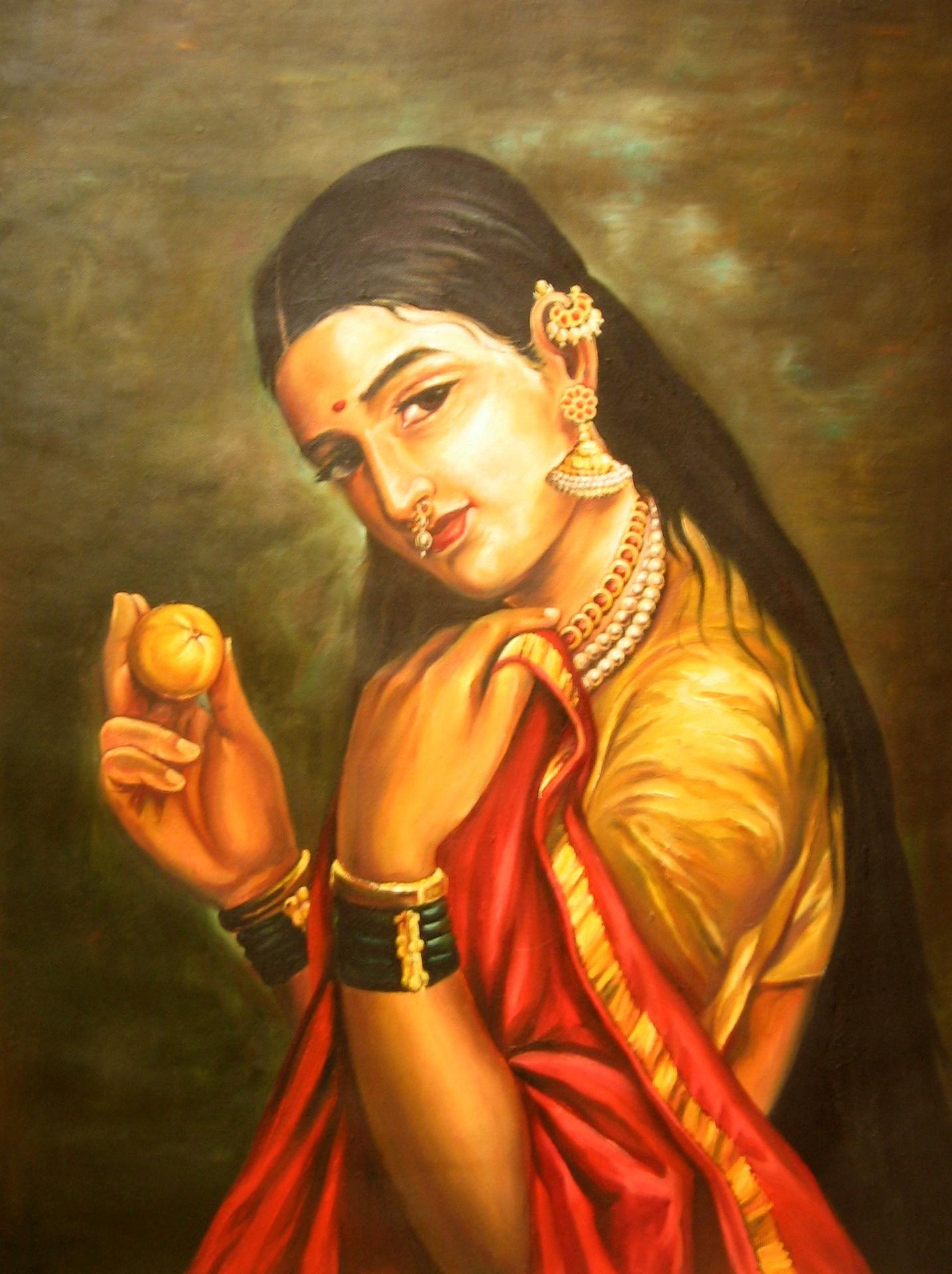 Buy raja ravi varma reproductional painting a beautiful