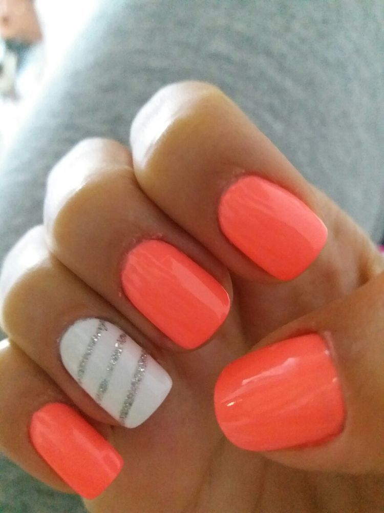 easy cute bright summer nail