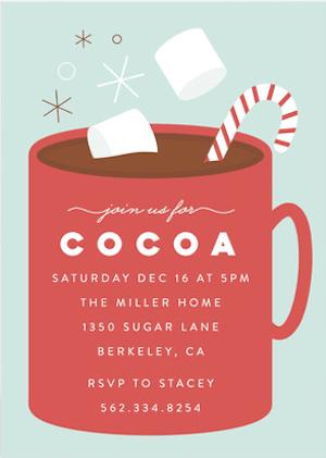 Cocoa Party Holiday Invitations