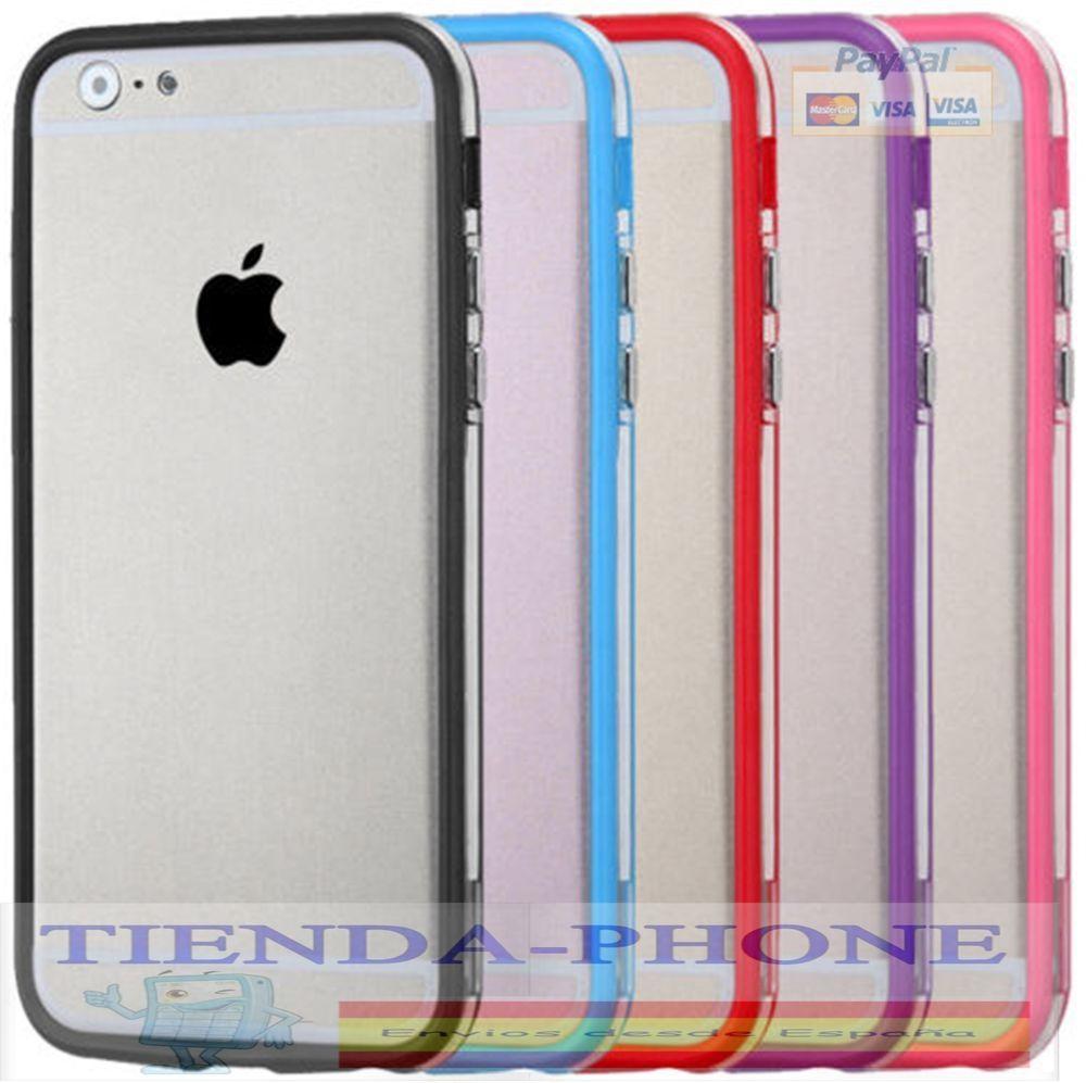 Funda de Silicona con Borde de Color para Apple Iphone 6 Plus / 6S