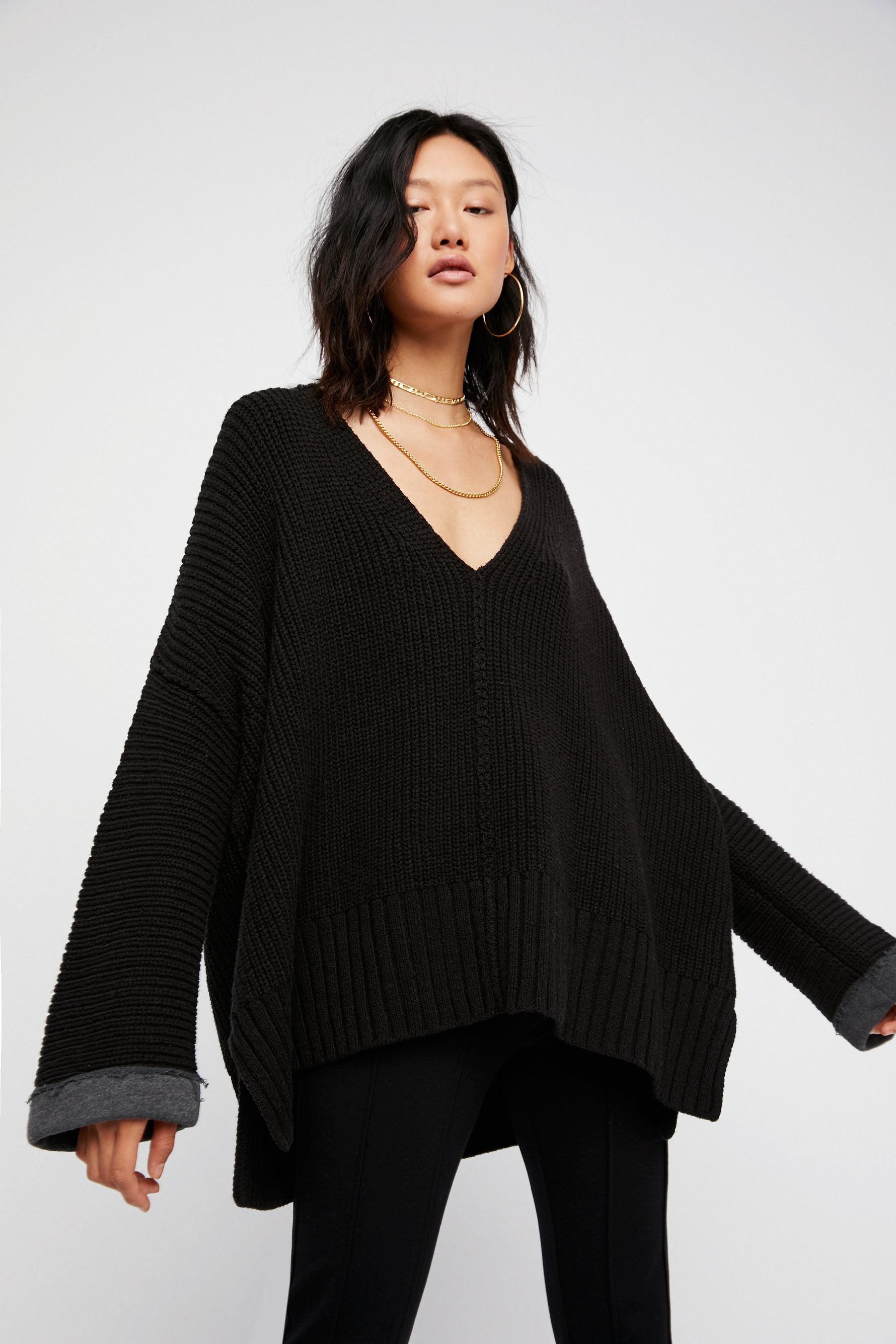 Take Me Over V-Neck Sweater | Slouchy and oversized V-neck sweater ...