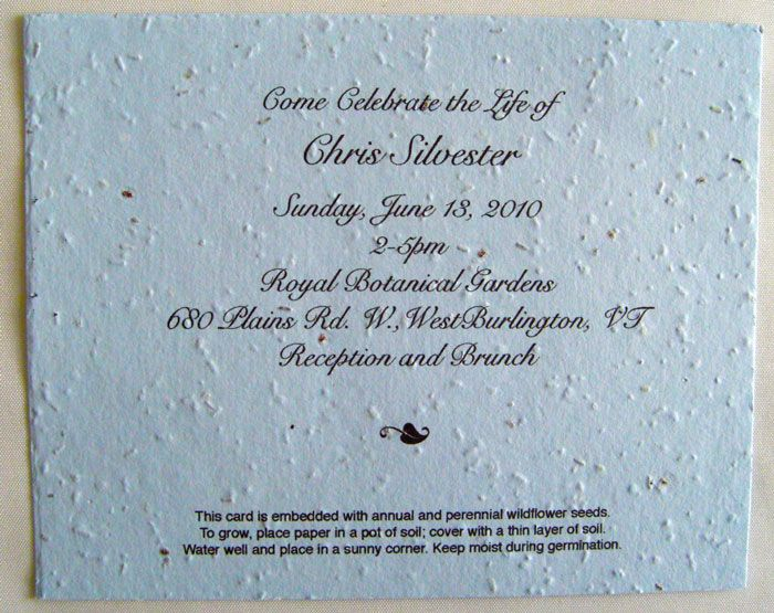 Invitation memorial card for funeral example Celebration of Life - invitation for funeral ceremony