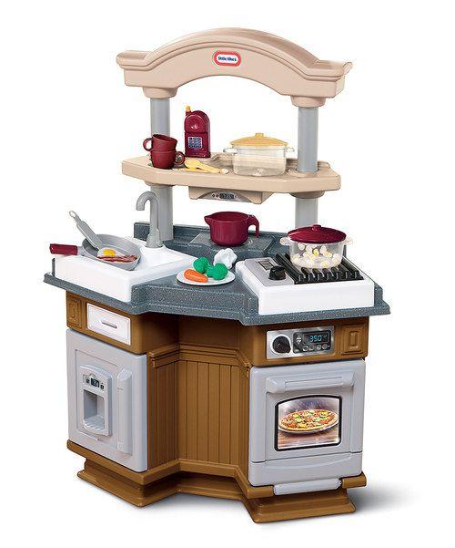Brown Sizzle N Pop Kitchen Set Zulily Play Kitchen Sets Pops Kitchen Play Kitchen