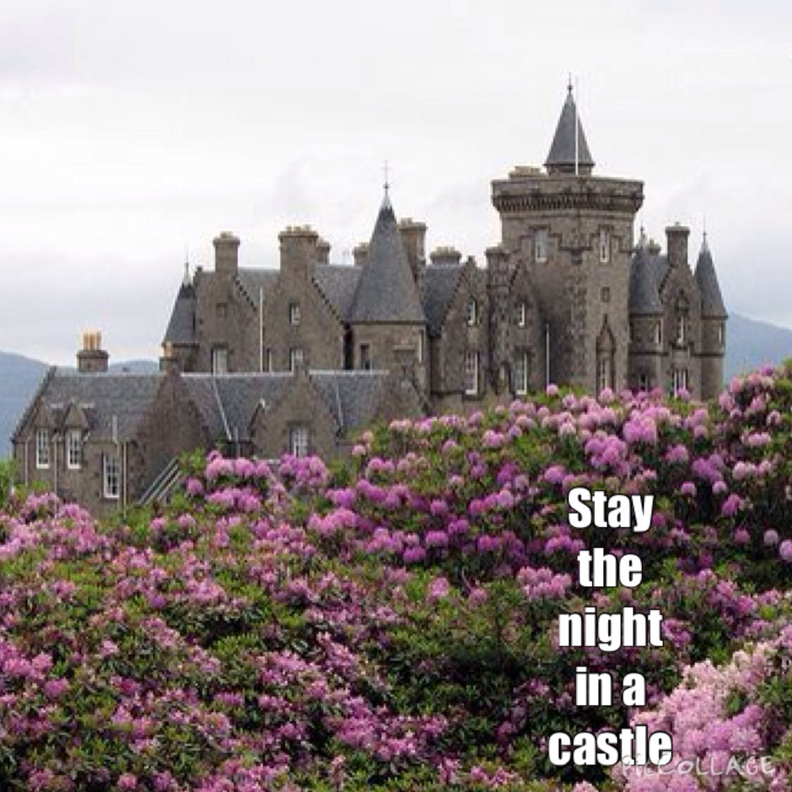 Stayed the night in this castle. Glengorm Castle at the Isle Of Mull, Scotland