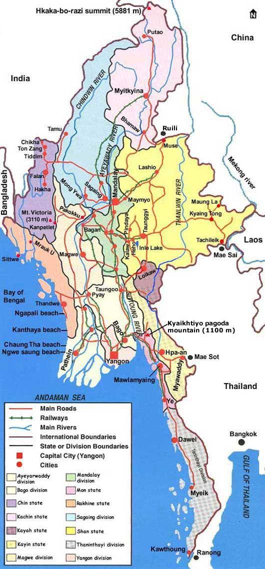 map of myanmar burma Map Of Myanmar Burma Myanmar Burma Country Maps map of myanmar burma