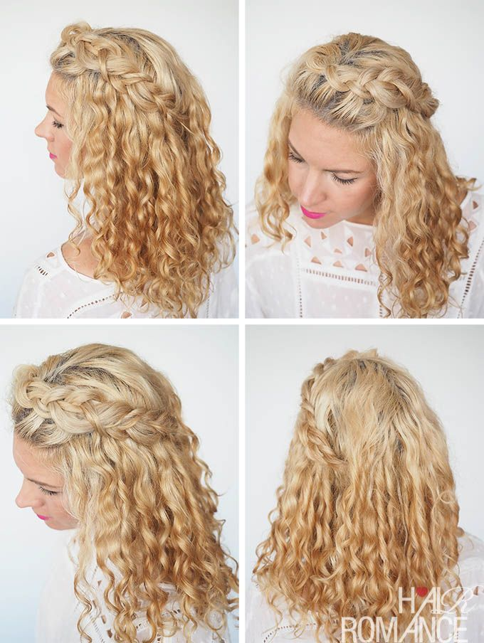 30 Curly Hairstyles In 30 Days Day 2 Jr Sr Night Pinterest
