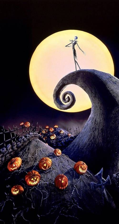 Halloween Full Moon Nightmare Before Christmas Wallpaper Halloween Wallpaper Iphone Halloween Wallpaper
